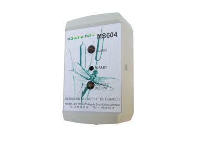 Centrale de détection de présence d'eau 1 zone MS604